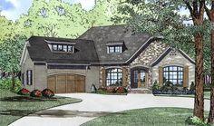 House Plan 82166 | Craftsman European Plan with 2408 Sq. Ft., 3 Bedrooms, 3 Bathrooms, 2 Car Garage