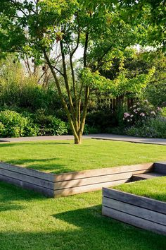 Crazy Front Yard Retaining Wall Landscaping - All For Garden Terraced Landscaping, Landscaping Retaining Walls, Front Yard Landscaping, Landscaping Ideas, Privacy Landscaping, Acreage Landscaping, Terraced Backyard, Sloped Backyard, Sloped Garden