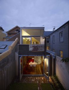 Fitzroy Terrace in Sydney viewed from the rear is an amalgamation of new and used materials