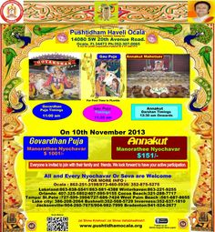 Annakut on 10th November 2013 ...please  join us with your friends and family ....