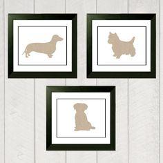 Nursery Art Print Set  Puppy Dog by DeliveredByDanielle on Etsy, $32.00