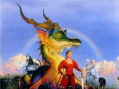 People co-existing with Dragons