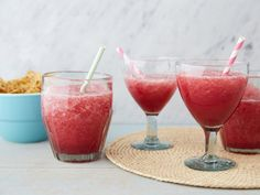 Trisha finds inspiration for her Frozen Sangarita at a Texas restaurant. The cocktail is a blend of frozen sangria and frozen margarita.
