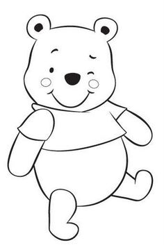 Baby winnie Pooh free coloring pages Coloring Pages To Print, Free Printable Coloring Pages, Coloring Book Pages, Coloring Pages For Kids, Coloring Sheets, Felt Patterns, Applique Patterns, Applique Templates, Quilt Baby