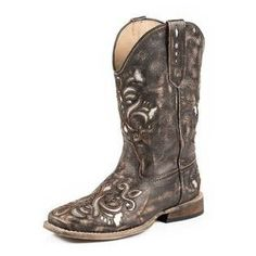 Cowgirl Boots - Roper Lazer Bling Tan Boot, item #09-018-0901-0671
