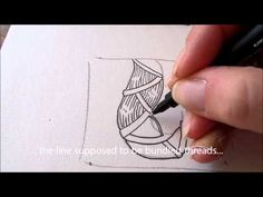 How to draw tanglepattern Brayd