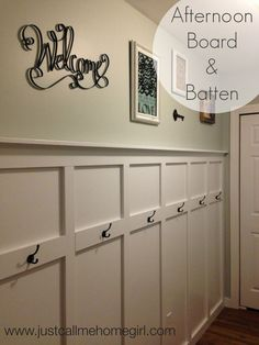 Afternoon Board & Batten - I was originally thinking of using wainscoting for our basement entry way but I figured I could find something a little less expensiv…