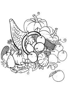 Printable Cornucopia Coloring Page Free PDF Download At Coloringcafe