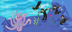 love the style---Octopus's Garden by NatAsplund