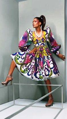 Not a fan of the dress style  but that fabric is amazing! #Ankara #africanfashion #Swahilifashion