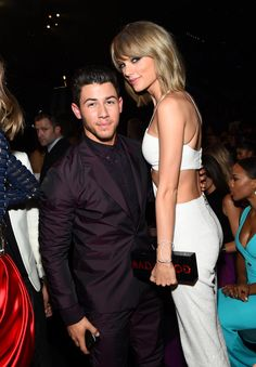 Pin for Later: The Best Pictures From the Billboard Music Awards Nick Jonas and Taylor Swift Nick Jonas, Taylor Swift Height, Taylor Alison Swift, Billboard Music Awards 2015, Camilla Belle, Ethel Kennedy, Barbie, Ludacris, Jonas Brothers