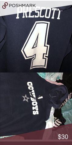 109832242 Dallas Cowboys Dak Prescott #4 Worn a few times too big NFL Sweaters Dak  Prescott