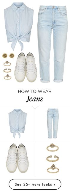 """""""Sin título #2239"""" by annie-leah on Polyvore featuring M.i.h Jeans, Topshop, House of Harlow 1960 and Yves Saint Laurent"""