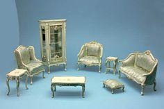 Dolls House Quality Living Room Furniture Drop Down List JiaYI 013