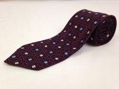 ERMENEGILDO ZEGNA 60L Mens Neck Tie Purple Blue Geometric Dots 100% Silk Italy #ErmenegildoZegna #Ties #NeckTies