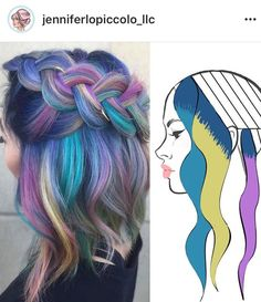 Vivid Hair Color, Beautiful Hair Color, New Hair Colors, Purple Hair, Ombre Hair, Hair Color Placement, Pelo Multicolor, Peekaboo Hair, Color Fantasia