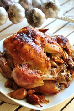 chicken Baked Chicken, Chicken Recipes, B Food, Stuffed Whole Chicken, Polish Recipes, Best Appetizers, Coleslaw, Chicken Wings, Side Dishes