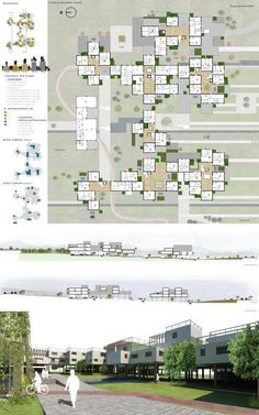 Since contexts of urban wrecks to new sustainable scenarios for eco-housing of San Gregorio (RC) Social Housing Architecture, Grid Architecture, Architecture Concept Drawings, Architecture Presentation Board, Residential Architecture, Ville Durable, Modular Housing, Residential Complex, Urban Planning