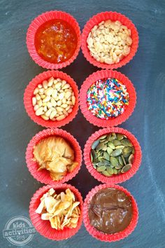 Make a delicious yogurt topping buffet for a fun after school snack!