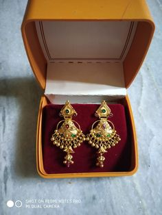 Betsey Johnson Mystic Baroque Queens Blue and Gold Moon and Star Drop Earrings – Fine Jewelry & Collectibles Gold Jhumka Earrings, Jewelry Design Earrings, Gold Earrings Designs, Antique Earrings, Gold Bangles Design, Gold Jewellery Design, Antique Jewellery Designs, Gold Jewelry Simple, My Escape