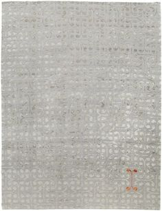 Archon Silver Himalayan wool and silk {rugs, carpets, modern, home collection, decor, residential, commercial, hospitality, warp & weft}