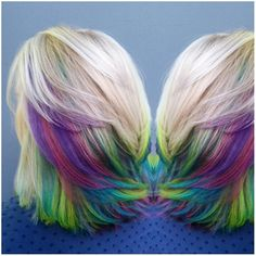 rainbow peekaboo highlights - Google Search