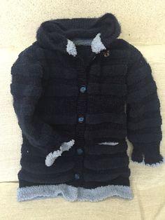 Вязание спицами для детей. Пальто для девочки 7 лет с капюшоном. Связано полосами из шерсти и травки. Sweaters, Handmade, Fashion, Hand Made, Moda, La Mode, Pullover, Sweater, Craft