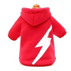 Cool Flash Lightning print pet dog hoodie coat