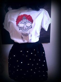 Diamond skull and studded skirt for today