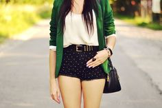 I like the green blazer and the shorts, however I wish they were pants