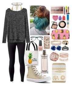 """""""Dark outfit made colorful with accessories"""" by picklebucket on Polyvore featuring Jockey, Gap, Converse, One Bella Casa, Cutler and Gross, Brixton, Tartesia, Avenue, Anne Klein and Miss Selfridge"""
