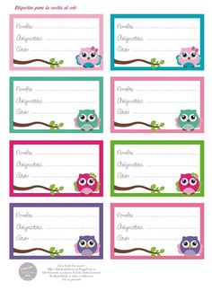 escuela p education words - Education Printable Name Tags, Printable Labels, Free Printables, School Name Labels, Cubby Tags, Tag Templates, Summer Camps For Kids, Name Stickers, Paper Tags