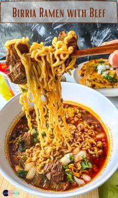 Beef Ramen Noodle Recipes, Top Ramen Recipes, Noodle Soup, Asian Recipes, Mexican Food Recipes, Beef Recipes, Soup Recipes, Ethnic Recipes, Ramen Noodles