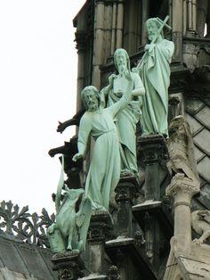 Statues at Notre-Dame ~ Paris Paris Travel, France Travel, Monuments, Saint Chapelle, Statues, Belle France, Ile Saint Louis, I Love Paris, Place Of Worship