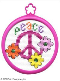 Bucilla ® My 1st Stitch™ - Counted Cross Stitch Kits - Mini - Peace. Beginner stitchers can create a quick and easy project. #knitting #crafts #plaid crafts