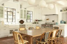 Copy Cat Chic: Serena and Lily Riviera Side Chair LOVE THE WINDOWS IN THIS KITCHEN!!