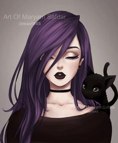 NOT MY ART - But I did happens to see these while saving cute photos of anime ch. NOT MY ART - But I did happens to see these while saving cute photos of anime chibis and definitely fell in lo Art Anime Fille, Anime Art Girl, Manga Girl, Anime Girls, Dark Anime Art, Gothic Anime Girl, Anime Art Fantasy, Illustrator, Art Mignon