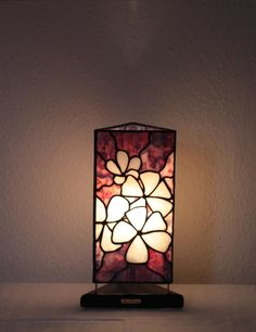 "Our stained glass tiffany style table lamp: ""Jasmin Flower"" www.mana-glaskunst.de"