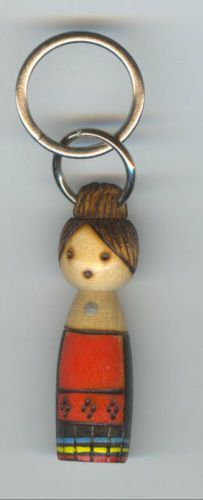 Soviet Estonian Souvenir National Doll Key Ring Chain | eBay