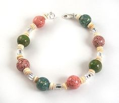 Memorial Bead Bracelet, Janet Style, Sterling Silver