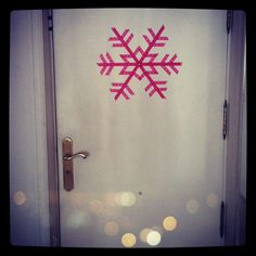 washi tape snowflake