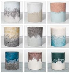 resin & cement drums by AM|MA Studio NYC