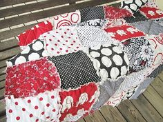 Alabama Crimson Tide Rag Quilt