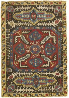 An Azerbaijan Silk Embroidery South Caucasus Worked In Satin Sch And Stem Roximately By Late Century