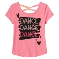 Girls 7-16 & Plus Size SO Twist Back Graphic Tee