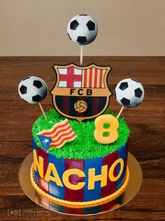 Please visit our website for Pastel Del Barcelona, Barcelona Cake, Cakes And More, Cakes For Men, Liverpool Cake, Fondant Butterfly, Football Birthday Cake, Soccer Cake, 5th Birthday Party Ideas