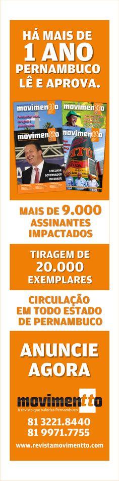 Cliente: Revista Movimentto | Veículo: Revista Movimentto  | Peça: Institucional - 1 coluna |  Agência: Promovva Comunicação Estratégica.