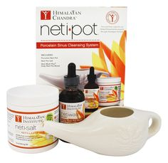 5 Kits Himalayan Institute Delicious Neti Pot Ceramic Starter Kit