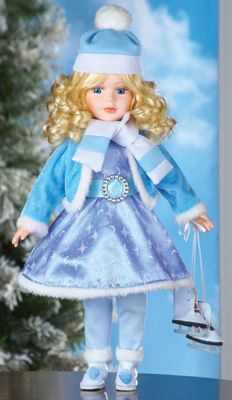 #98616 Ice Skating Emily Collectible Winter Holiday Doll by sensationaltreasures
