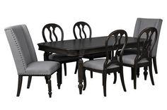 Laurel 7 Piece Dining Set W/Oak Side Chairs - Signature